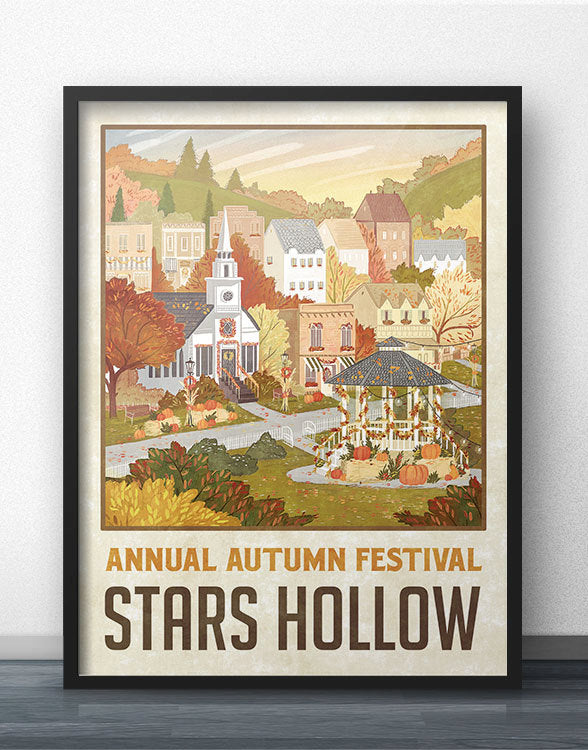 "Stars Hollow ""Autumn Festival"" Travel Poster"