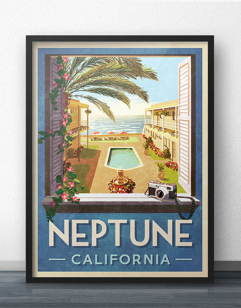 Neptune California Travel Poster