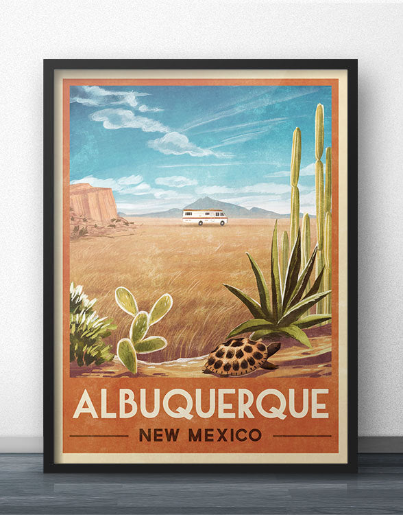 """99.1% Pure"" RV Travel Poster of Albuquerque"