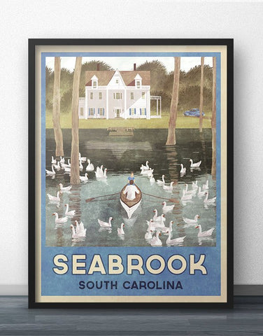 Seabrook, South Carolina Travel Poster