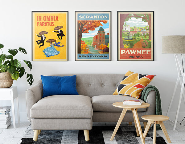 Pawnee Indiana Travel Poster