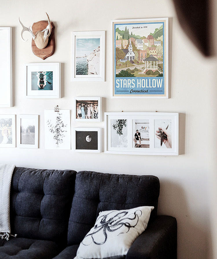 Decorating with Posters on a Gallery Wall