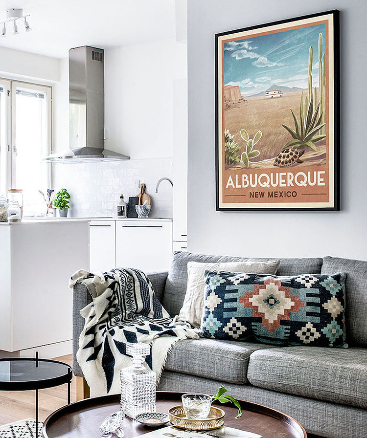 Decorating with Posters, Southwestern Style