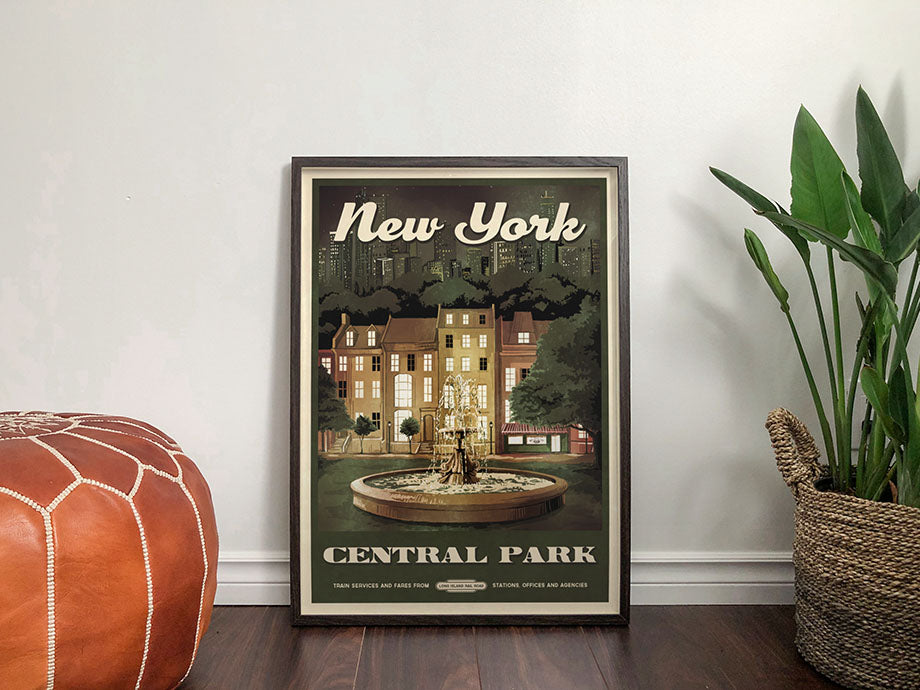 New York Travel Poster inspired by Friends