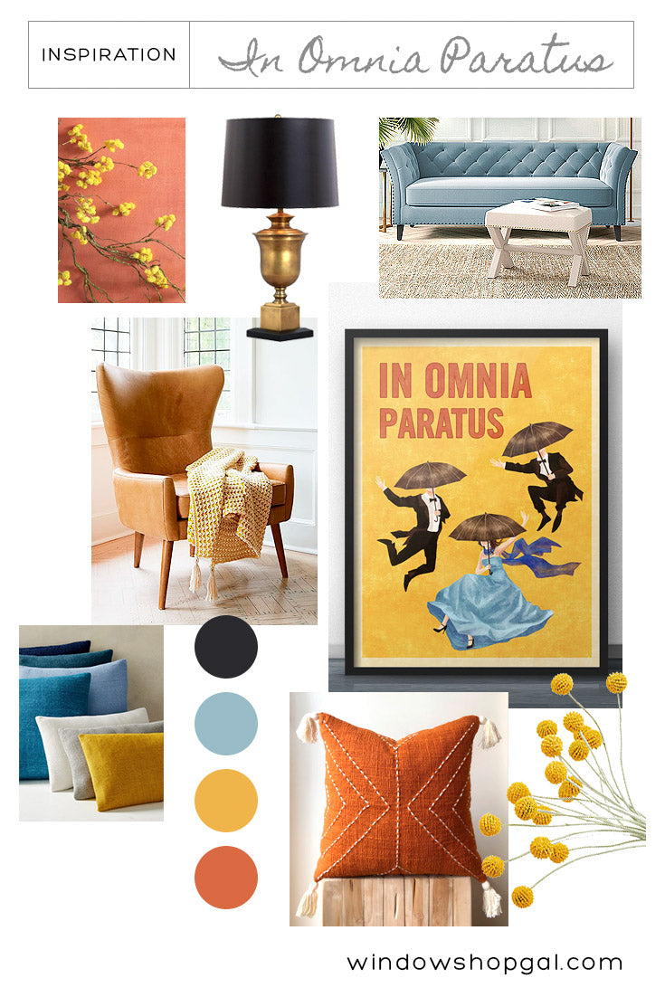 Yellow & Blue Decorating Living Room Ideas