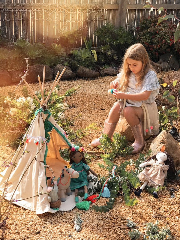 Teepees for the toys!