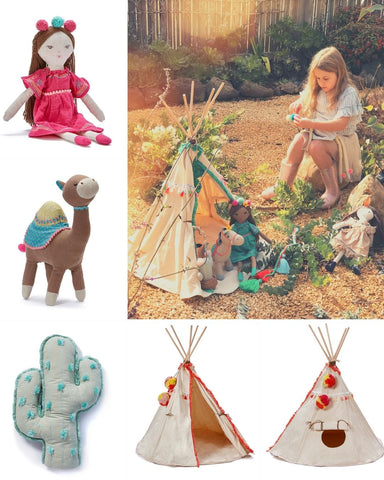 Kids Toy TeePee with Dolls Around