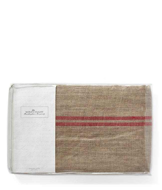 Linen Table Cloth-Red