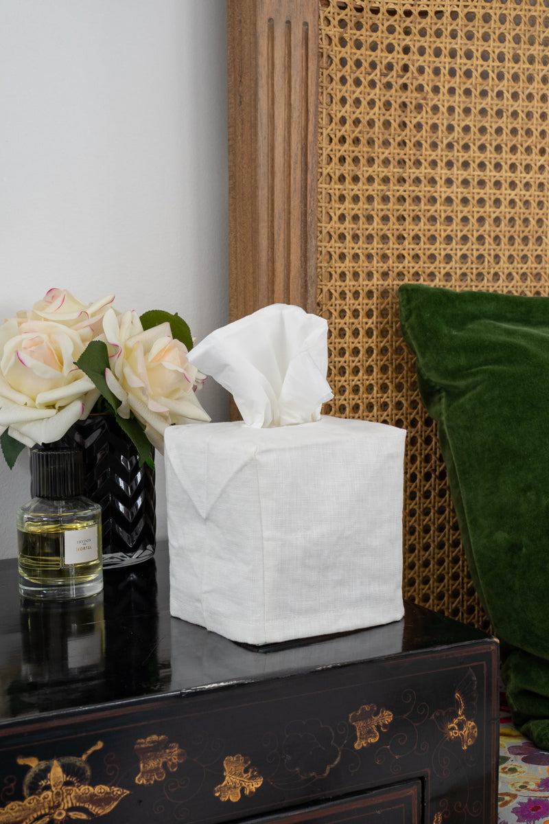 Tissue Box Cover Sml-White