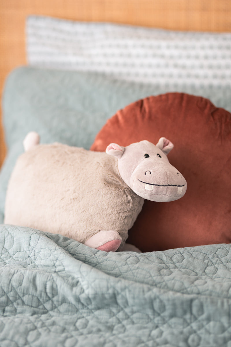 Hazel the Hippo-travel pillow