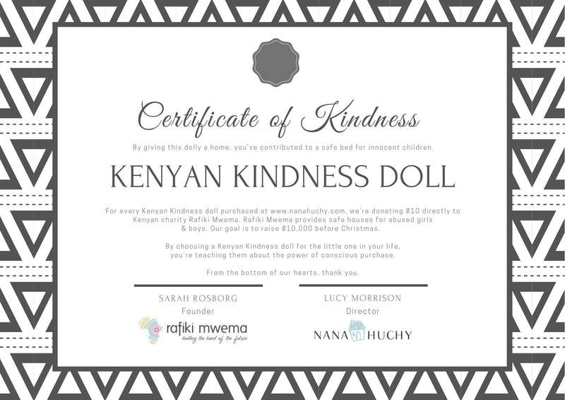 Four Kenyan Kindness Dolls