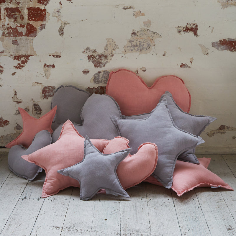 Star Cushion Lge-Pink