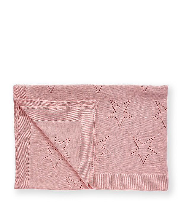 Pointel Baby Blanket-Fairy Floss Pink