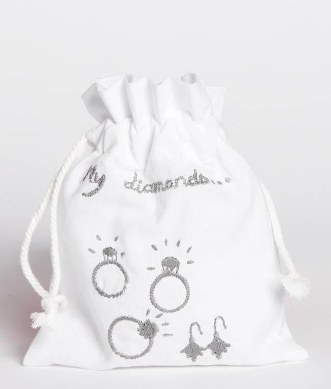 NanaHuchy Diamond Bag-White