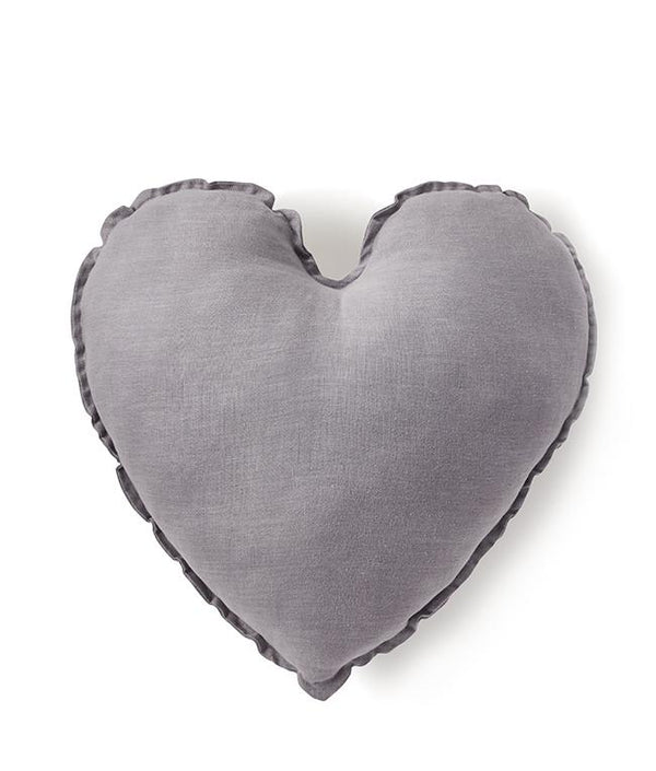 NanaHuchy Heart Cushion Lge-Grey