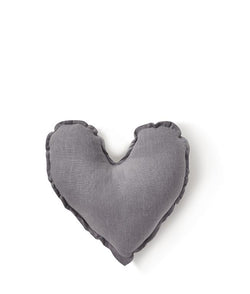 NanaHuchy Heart Cushion Sml-Grey