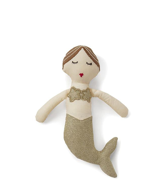NanaHuchy Mia Mermaid Rattle Gold
