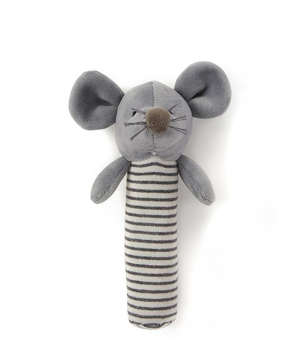 NanaHuchy Mousie Rattle-Grey
