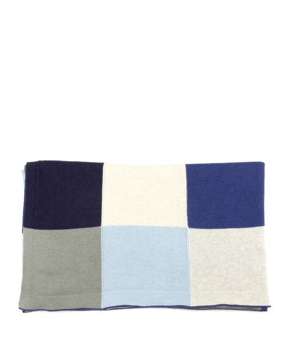 NanaHuchy Patchwork Baby Blanket-Blue