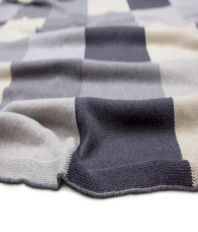 NanaHuchy Patchwork Baby Blanket-Grey