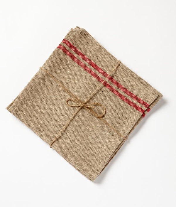NanaHuchy Set 4 Linen Napkin-Red