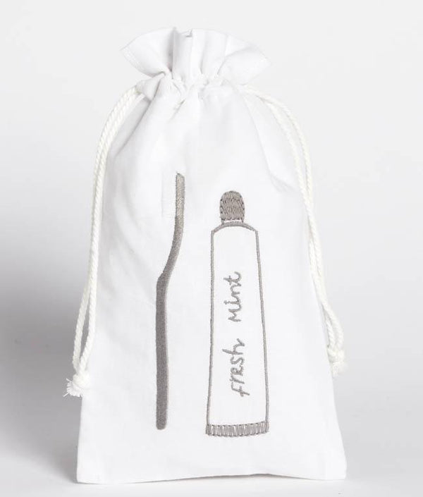 NanaHuchy Toothbrush Bag-White