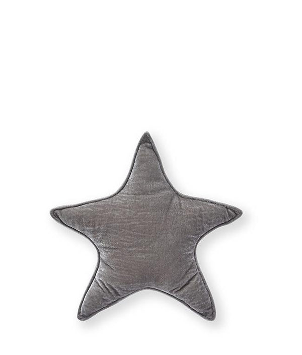 NanaHuchy Velvet Star Cushion Sml-Grey