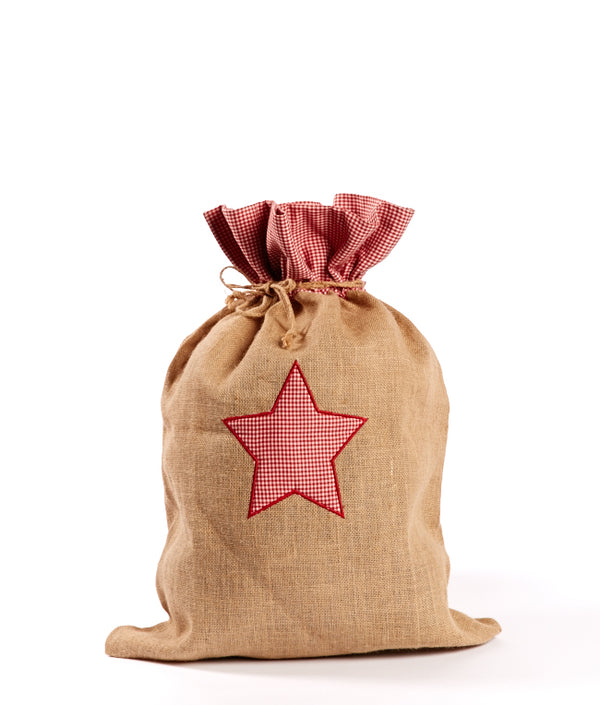Natural Jute Sack-Star