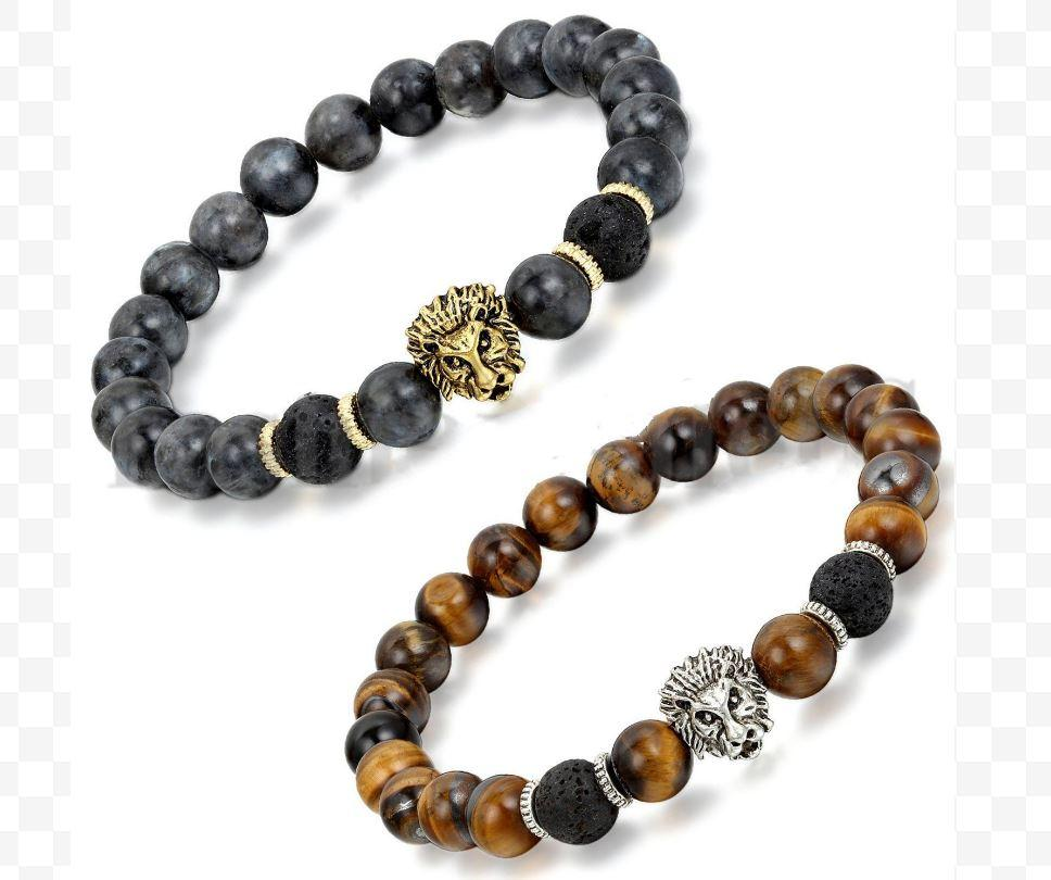 2PC/Sets Essential Oil Lava Stone Beads Bracelets - S&G Collections