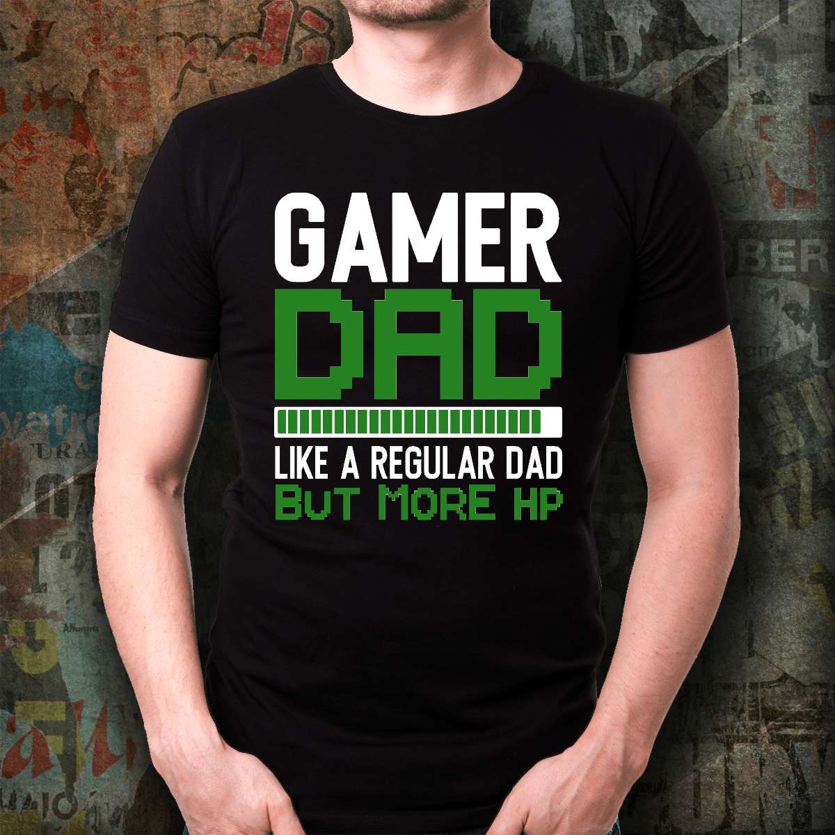 """Gamer Dad"" Cotton Unisex T-Shirt - S&G Collections"