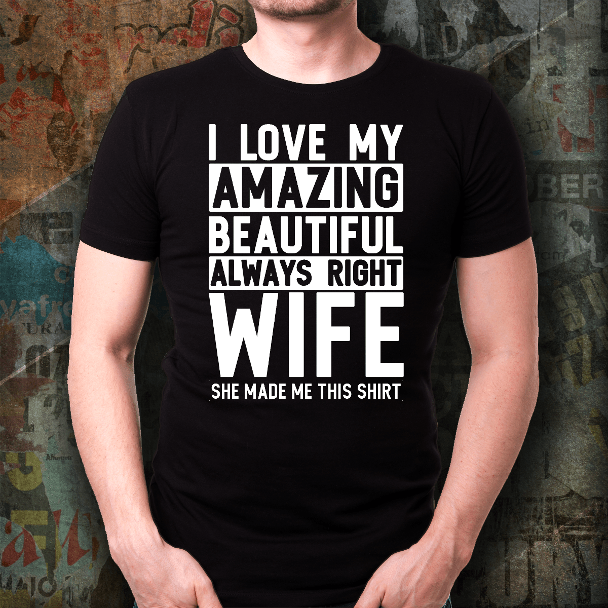 """I Love My Wife"" Cotton Unisex T-Shirt - S&G Collections"