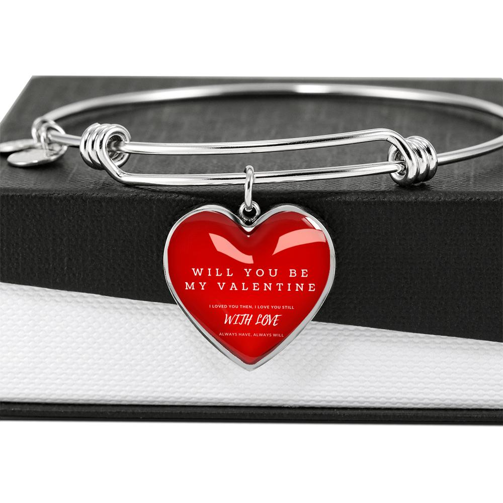"""BE MY VALENTINE"" LUXURY HEART BANGLE - S&G Collections"