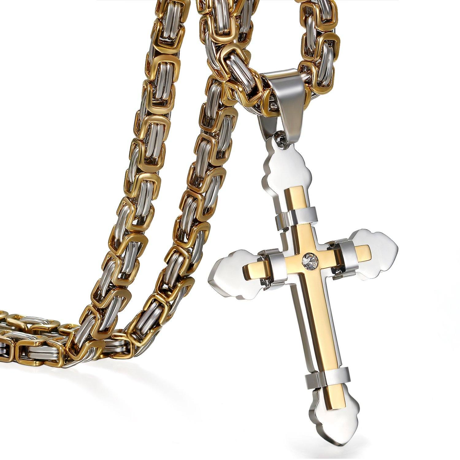 Stainless Steel Cross Pendant Necklace - S&G Collections