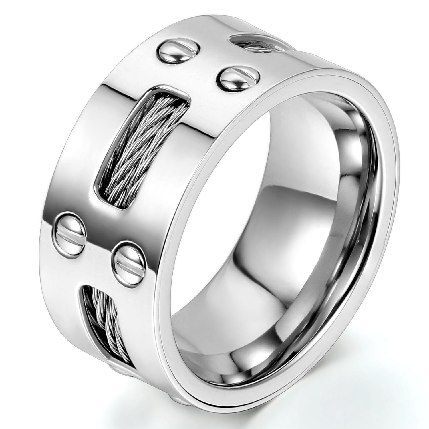 Cables and Screws Stainless Steel Ring (Size 7-13) - S&G Collections