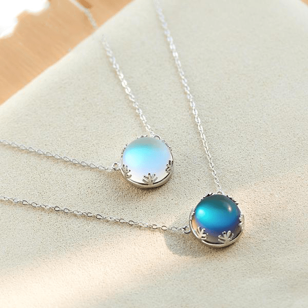 Aurora Halo Crystal Gemstone in Pure S925 Silver Pendant Necklace - S&G Collections