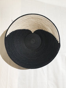 Large Black & White Basket - Wave