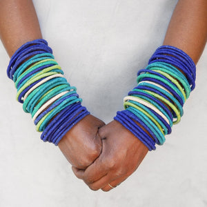Bangles Set of 20 - Cool Colours