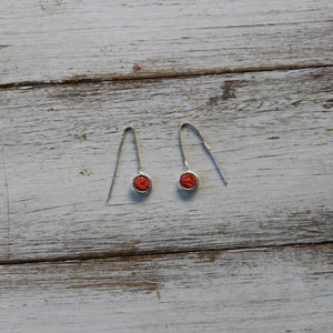 Silver Pull Through Earrings