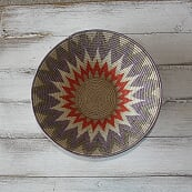 Large Patterned African Baskets