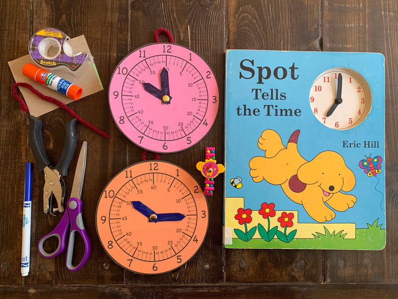 Make a learning clock and learn to tell time!
