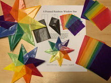 Load image into Gallery viewer, Rainbow Window Star Tutorial and DIY Kit (set of 3 stars)