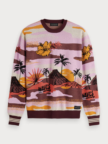 Scenic Jacquard Sweater in Multi