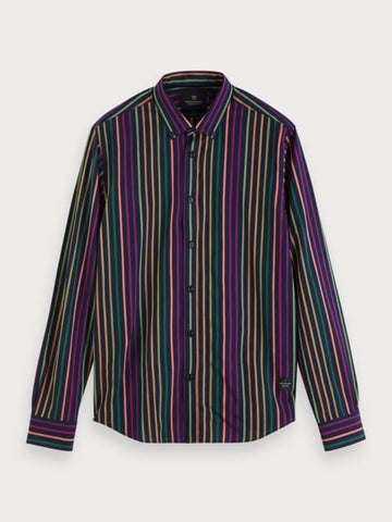 Rainbow Stripe Shirt | Regular fit in Green
