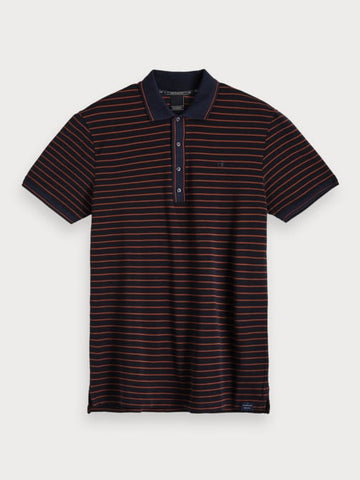 Two-Tone Polo in Blue