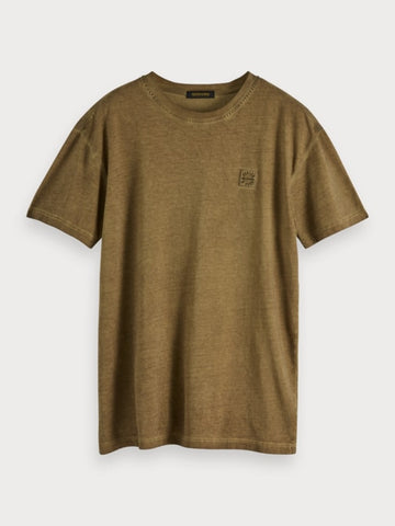 Oil-Washed T-Shirt in Green