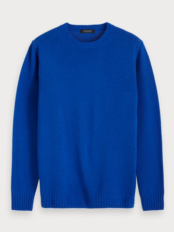 Soft Cashmere-Blend Pullover in Blue