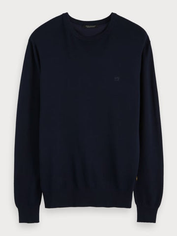 Crew Neck Pullover in Blue