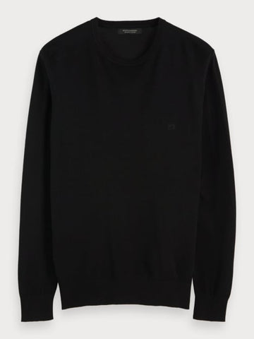 Crew Neck Pullover in Black