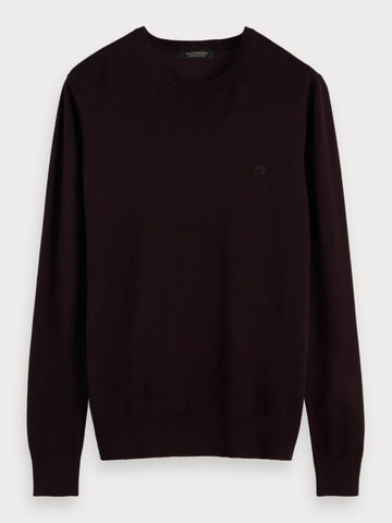 Crew Neck Pullover in Bordeaux