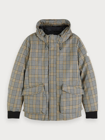 Checked Jacket in Grey